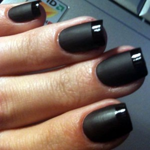 Black Nail Polish The Art Of Darkness Blog Archive Gothy French Manicure