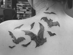 Flock of Bats Tattoo
