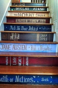 Book Spine Stair Risers