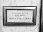 13th Floor Sign
