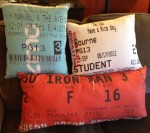 Ticket Stub Pillows