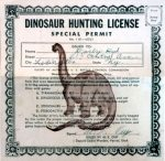 Dinosaur Hunting License